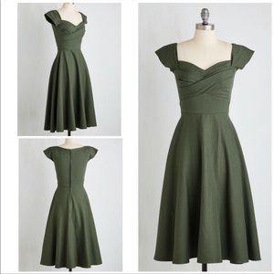 Stop Staring Pine All Mine Swing Dress